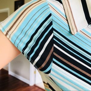 B.MOSS Tops - Striped Blouse Stretchy and comfortable